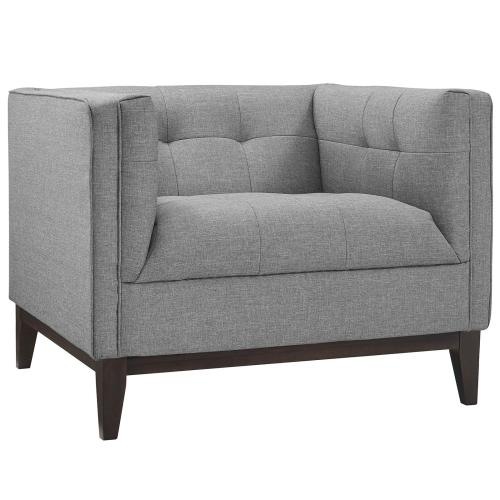 Modway - Serve Armchairs Set of 2 in Light Gray