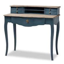 See Details - Baxton Studio Celestine French Provincial Blue Spruce Finished Wood Accent Writing Desk