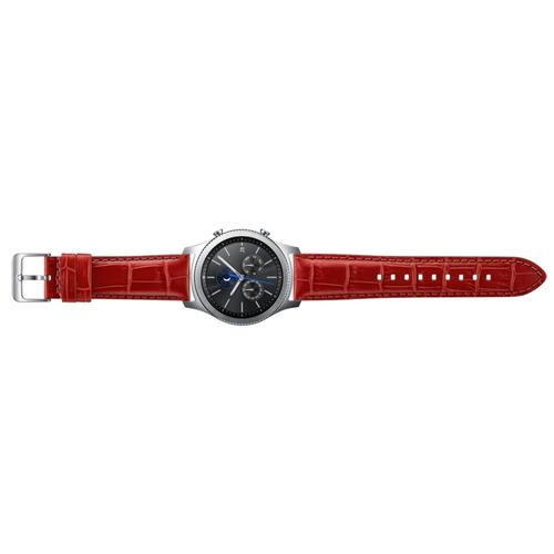 Alligator Leather Band (22mm) Orange Red