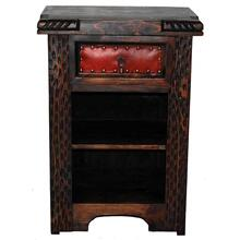 See Details - Dark Leather Night Stand