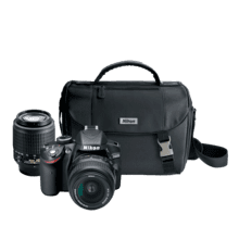 D3200 Double Zoom Lens and Case Kit, Black