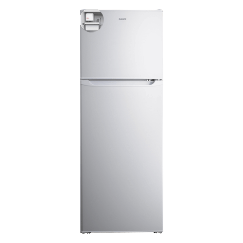 Galanz 10.0 Cu Ft Top Mount Refrigerator with Built-in Ice Maker in White