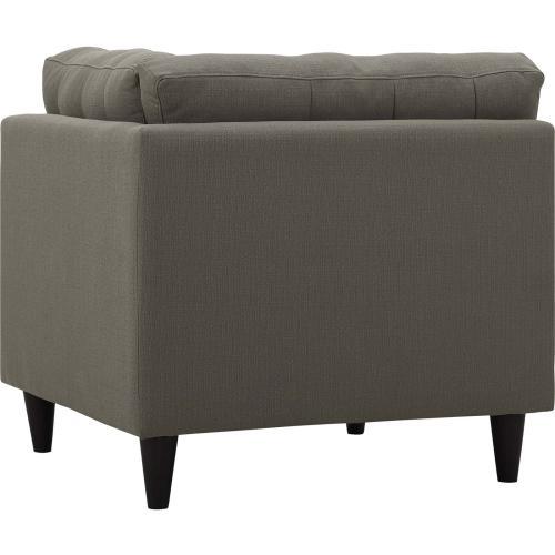 Modway - Empress Upholstered Fabric Corner Sofa in Granite