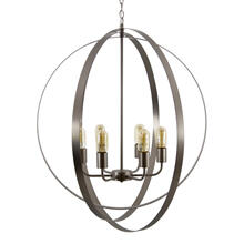 6 Light Chandelier in Matte Satin Nickel Finish