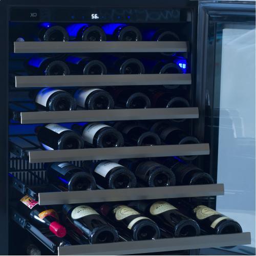24in Wine Cellar 1 Zone SS Glass RH