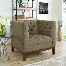 Panache Upholstered Fabric Armchair in Oatmeal