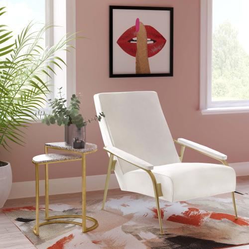 Abbey Cream Velvet Chair