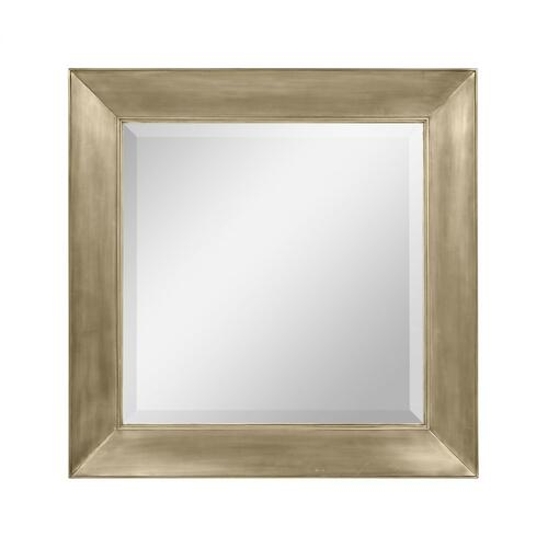 Hamilton Square Medium Antique Gold Brass Hanging Wall Mirror