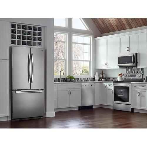 Samsung - 2.1 cu. ft. Over-the-Range Microwave with Sensor Cooking in Fingerprint Resistant Stainless Steel