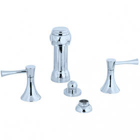 Brookhaven - Vertical Spray Bidet Fitting - Polished Nickel