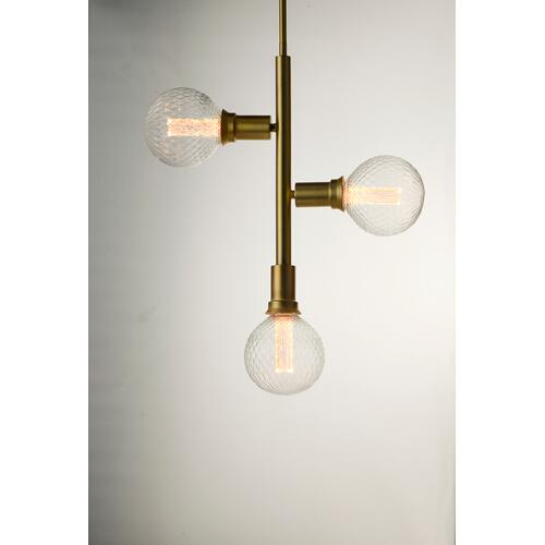 Molecule 3-Light Pendant with G40 PR LED Bulbs