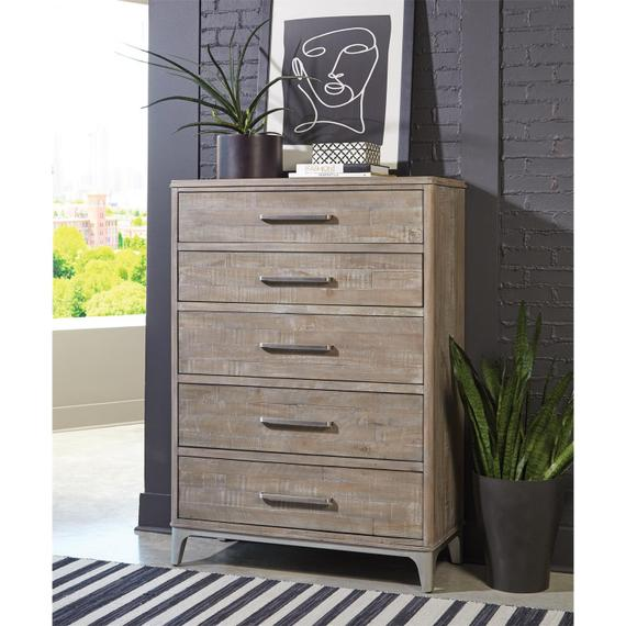 Riverside - Intrigue - Five Drawer Chest - Hazelwood Finish