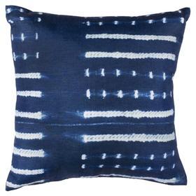 Narla Pillow - Deep Blue / White
