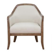 Farmhouse Style Beige Accent Chair