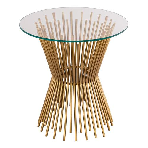Tov Furniture - Grace Glass Side Table by Inspire Me! Home Decor