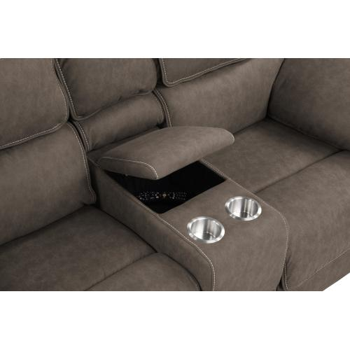 Emerald Home Console Loveseat W/ Usb Power Outlet U7127-21-03
