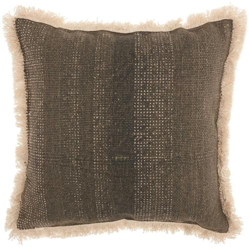 "Life Styles As301 Charcoal 18"" X 18"" Throw Pillow"