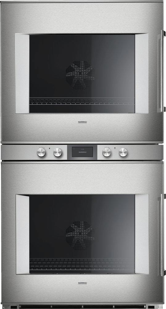 400 Series Double Oven 30'' Door Hinge: Left, Door Hinge: Left, Stainless Steel Behind Glass Photo #2