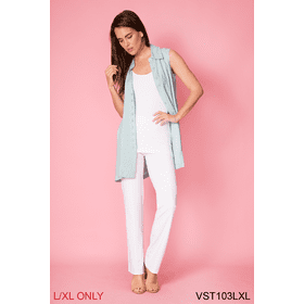 All Day Button Up Sleeveless Vest - L/XL (3 pc. ppk.)