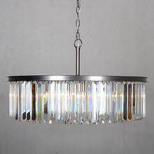 8 Light Chandelier in Black Finish