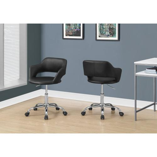 Gallery - OFFICE CHAIR - BLACK / CHROME METAL HYDRAULIC LIFT BASE