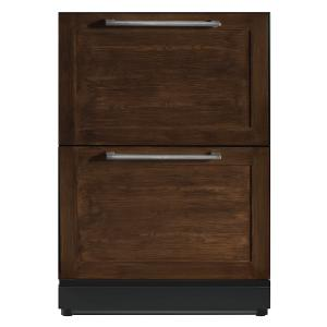 Thermador24 3/16 inch Under-counter Double Drawer Refrigerator Custom Panel Ready T24UR800DP