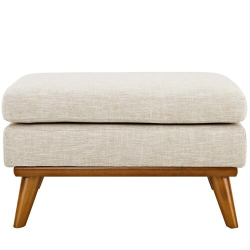 Modway - Engage Upholstered Fabric Ottoman in Beige