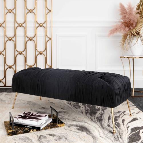 Tov Furniture - Jessica Black Velvet Bench