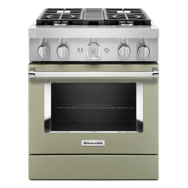 Kitchenaid KitchenAid® 30'' Smart Commercial-Style Dual Fuel Range with 4 Burners - Avocado Cream