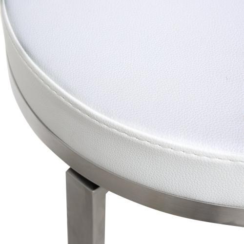 Pratt White Swivel Counter Stool (Set of 2)