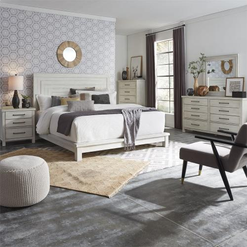 King California Platform Bed, Dresser & Mirror, Chest, N/S