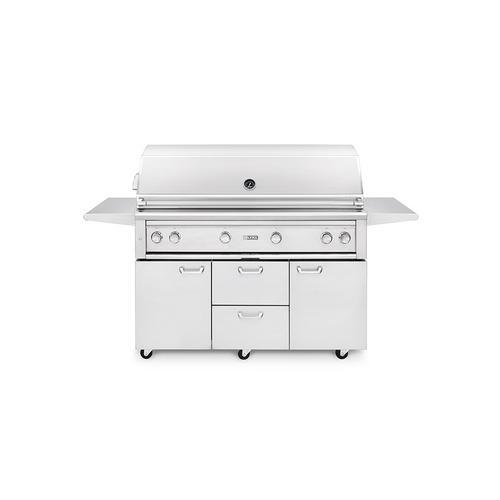 """Lynx - 54"""" Freestanding Grill with ProSear 2 Burner and Rotisserie (L54PSFR-2) - Natural gas"""