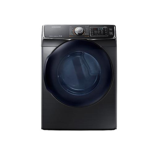 Samsung - 7.5 cu. ft. Electric Dryer in Black Stainless Steel