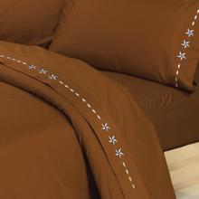 Embroidered Star Sheet Set, Copper - California King / Copper