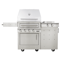 K500 Freestanding Hybrid Fire Grill with Side Burner