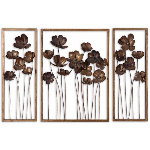 Product Image - Metal Tulips Wall Decor, S/3