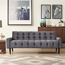 Delve Performance Velvet Sofa in Gray