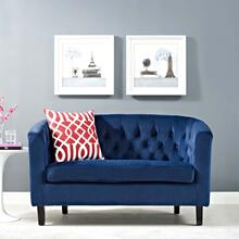 Prospect Performance Velvet Loveseat in Navy