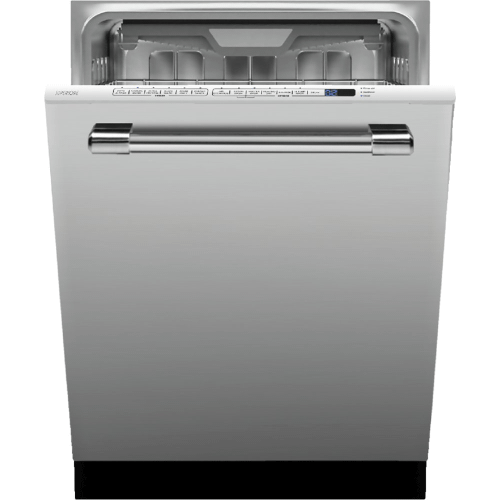 "Dishwasher LA CUCINA 24"" Stainless steel Fully integrated, 14 place settings. 3 spray arms"
