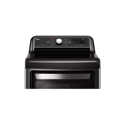 LG - 7.3 cu.ft. Smart wi-fi Enabled Gas Dryer with TurboSteam™