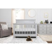Cloud Grey Foothill 4-in-1 Convertible Crib