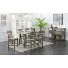 Dakota Gathering Table & 6 Barstools Reclaimed Pine