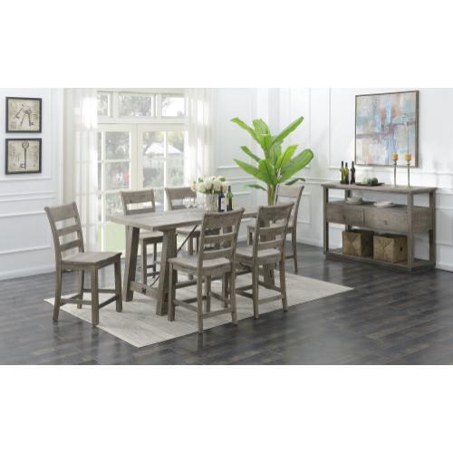 Dakota Table & 4 Chairs Reclaimed Pine
