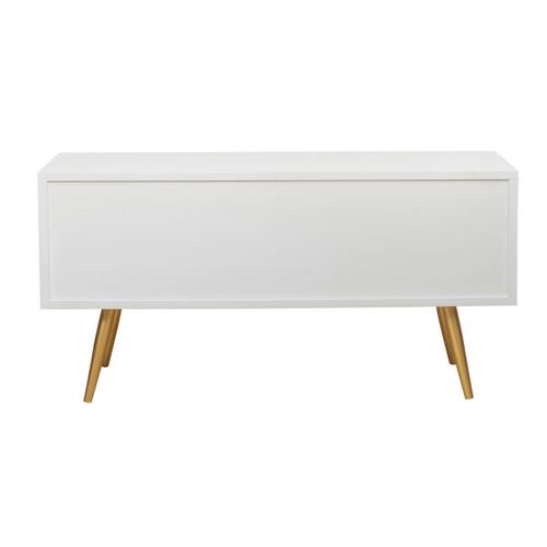 White/Gold Four Drawer Chest