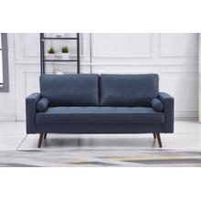 See Details - 8116 NAVY Linen Stationary Sofa