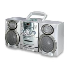 Mini Hi-Fi CD/Cassette Player/Recorder with AM/FM Tuner & Detachable Speakers