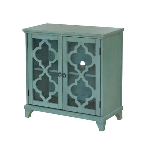 Blue kd two door chest