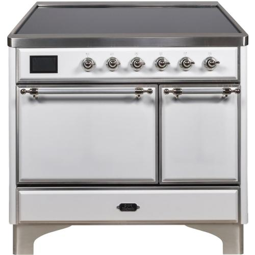 Product Image - Majestic II 40 Inch Electric Freestanding Range in White with Chrome Trim