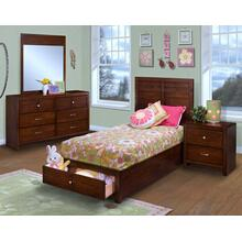 Kensington 3/3 Twin Bed - Twin Storage Footboard