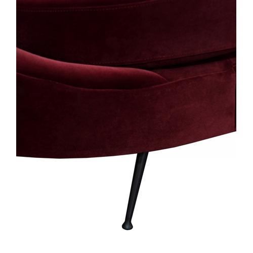 Divani Casa Saline - Glam Burgundy Sofa